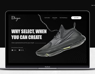 D'Sign - Landing Page Design Fashion Customisation App