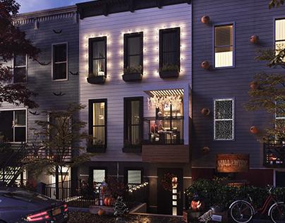 CG - House on the eve of halloween