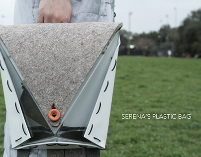 Serena's Plastic Bag-Backpack prototype