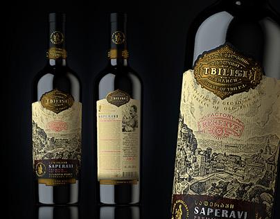 "Georgian wine ""TBILISI"", ""RESERVE"". SAGANDZURI series."
