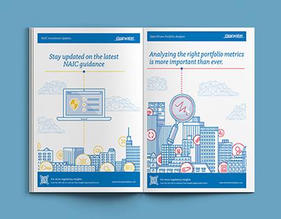 Print Ad Series with Skyline Illustrations