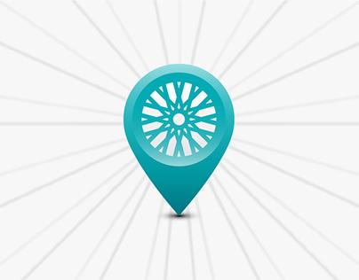 La bicy; logo, app icon, and advertising design.