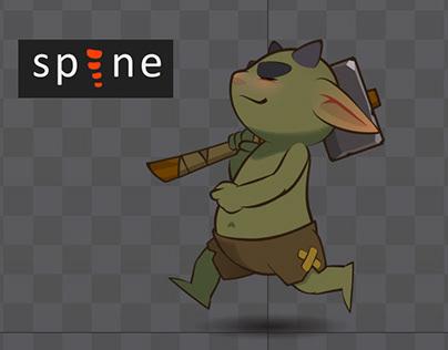 Spine Animation   Troll Kid