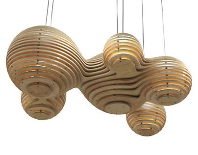 Nativi Chandelier - CNC Cut Parametric Light Fixture