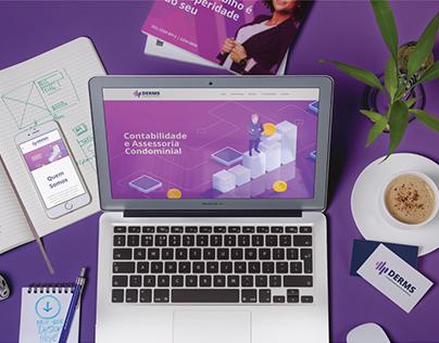 Derms Contabilidade - Redesign e Website