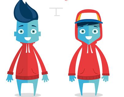 Cartoon Character Design. Vector Illustration
