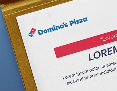 Domino's Pizza Turkey - Certificate Design
