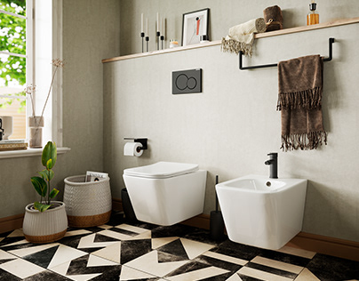 The comfortable bathroom for Ceramica NOVA