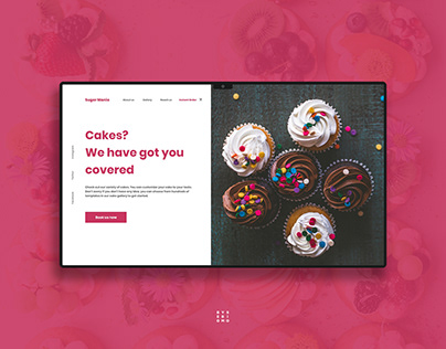 Cake Website UI Design
