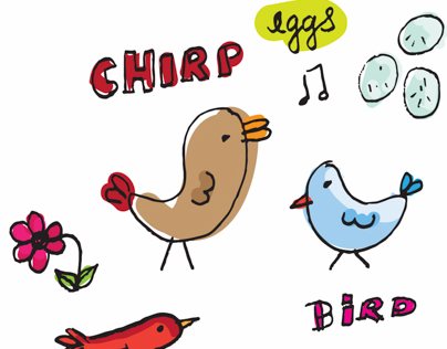 Hand drawn vector birds