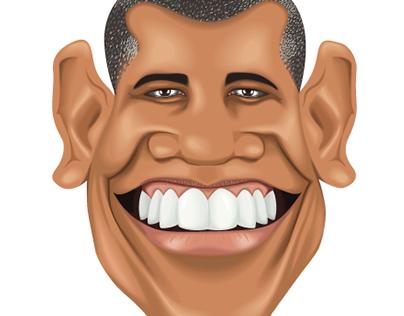 Vector Caricature Barack Obama