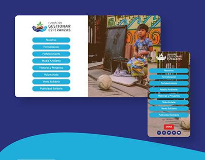 Presentación Web - Fundación Gestionar Esperanzas