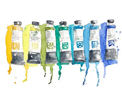 Watercolor Paints Sketch
