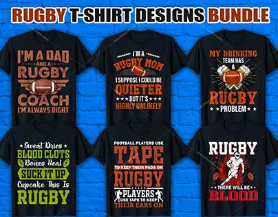 Rugby T Shirt Design Bundle