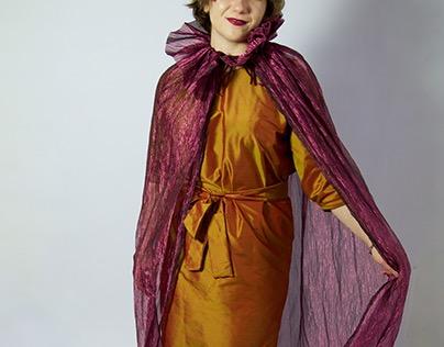 Purple Carrot Dress & Cape
