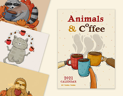Animals and COfee. 2021 Calendar
