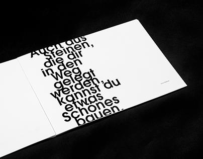 LESEN – HANDLING TYPOGRAPHY EDITORIAL DESIGN