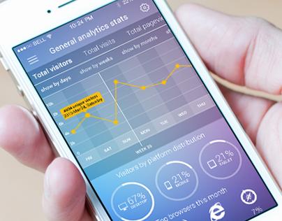 Analytics Stat Mobile App Concept