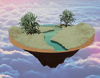 flying island 3D