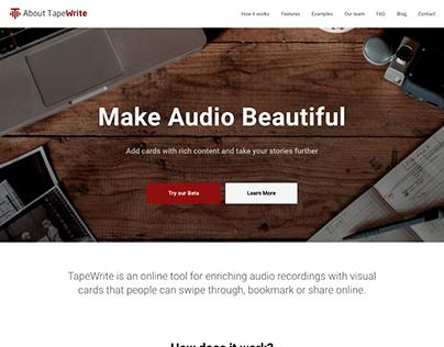 TapeWrite Landing Page