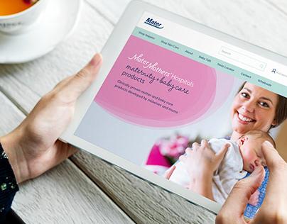 Mater Mothers' E-commerce Website Design