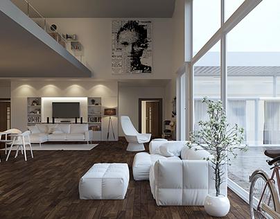 Draft(Modern_ two Stories) Interior Design