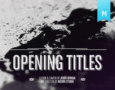 Opening Titles Jornadas de Diseño ESDA 2012