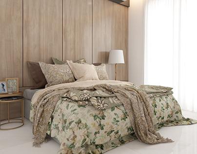 bedroom interior desing / render