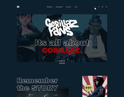 Gorillaz fans page concept.