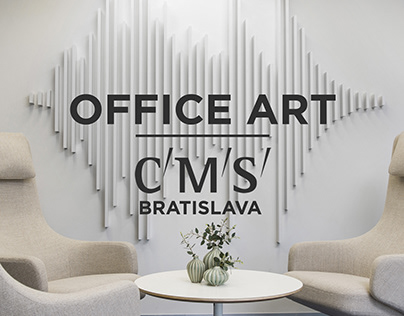 CMS | sound wave signature | OFFICE RECEPTION ARTWORK