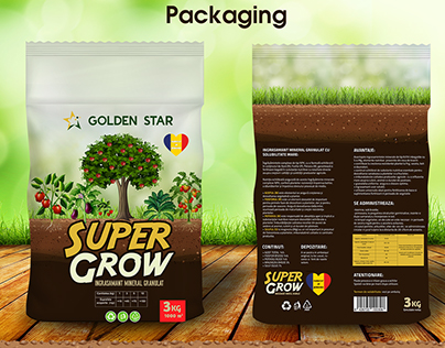 Packaging design for fertilizer brand