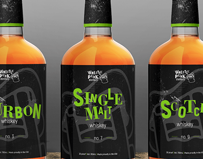 Whistle Punk Distillery Branding