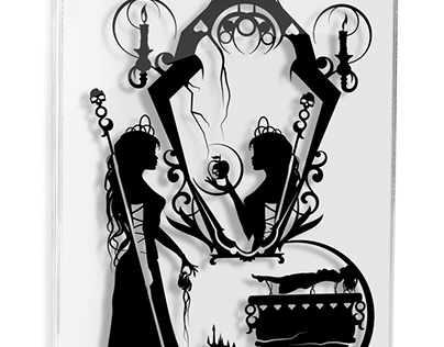 Evil Queen Snow White - hand cut paper