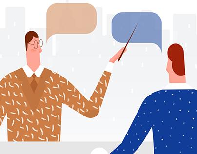Language-Learning Illustration set