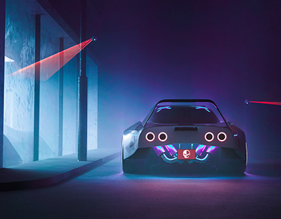 Cyberpunk Corvette C3 (CGI)