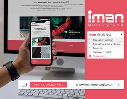 iman Metalúrgica | Diseño de imagen corporativa, web, +