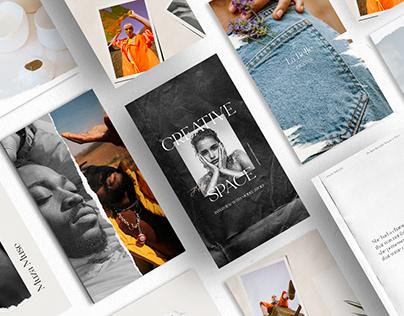 50 Paper Instagram Templates + Bonus By:The Muza