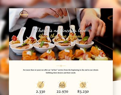 Catering Agency - UI Design