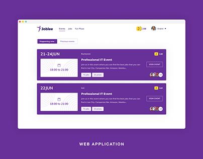 Job hunting web application