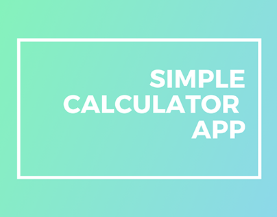 Simple Calculator App