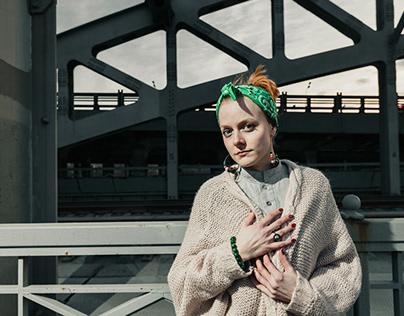 Urban portrait. Nastya