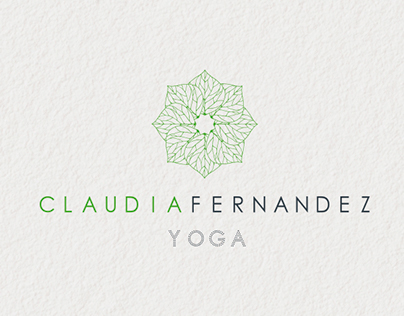 """Claudia Fernandez -YOGA-""   Branding   Logo"
