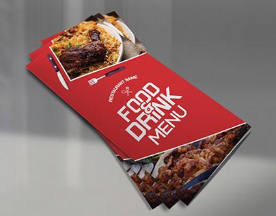 Food Menu,Trifold Brochure