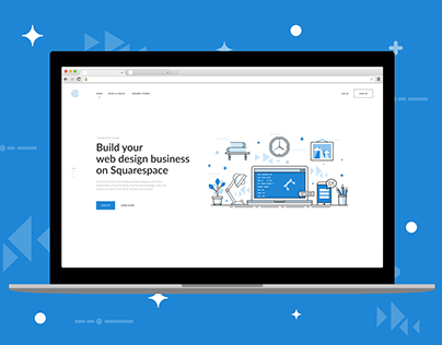 Squarespace landing simple and clean redesign