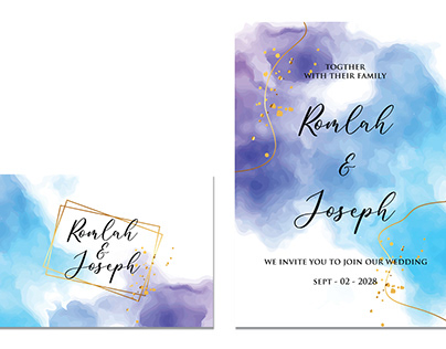 wedding invitation watercolor design
