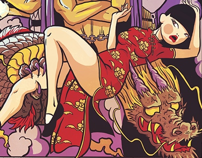 """""""Big Trouble in Little China"""" coloring poster"""