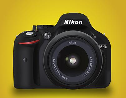 Nikon D5200 Vector Illustration