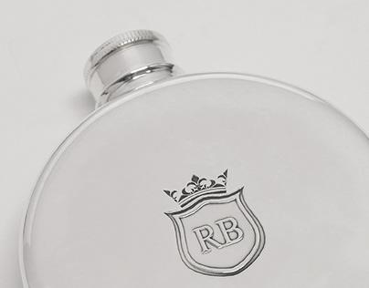 Branding - RB Hip Flask