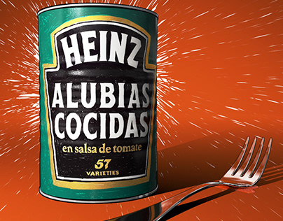 Heinz Still life. Cool beans. 150th Anniversary