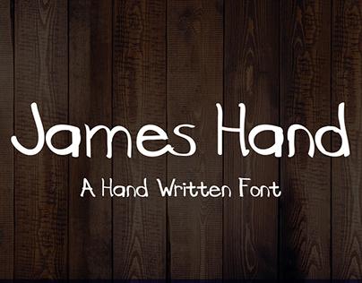 James Hand - New Free Font (Handwriting)